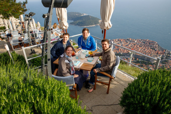 Dinner at the top of Mount Srd, Dubrovnik, Croatia