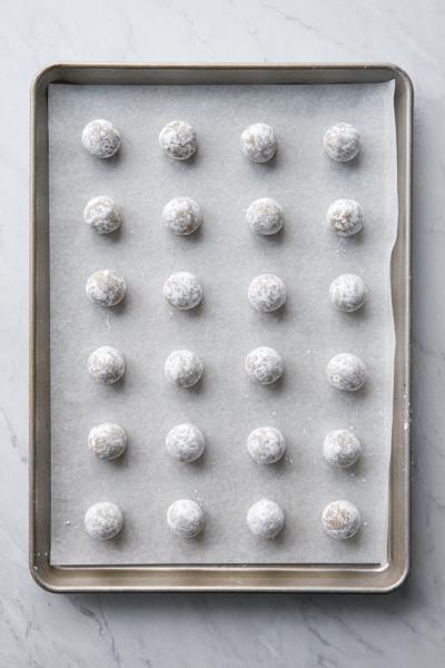 Pistachio Amaretti Cookies: Before Baking