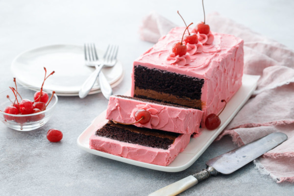 Chocolate Maraschino Layer Cake