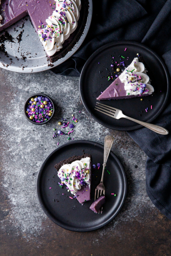 Ube and Coconut Cream Pie