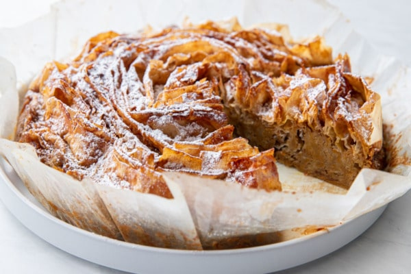 Pumpkin Ruffled Milk Pie