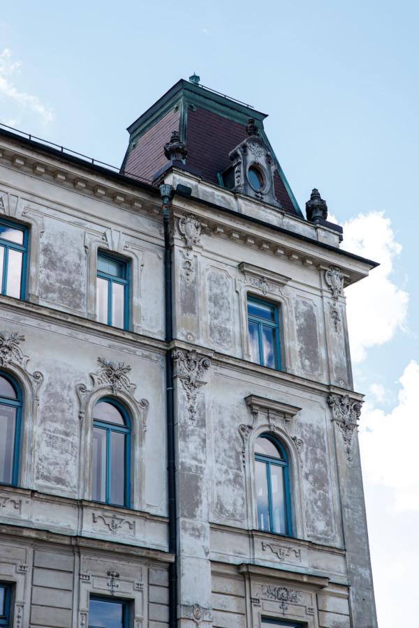 Unique architecture of Ljubljana, Slovenia