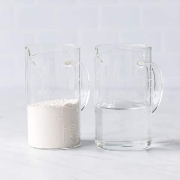 8 ounces of flour by volume versus 8 ounces of water