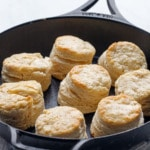 Sourdough Biscuits baked in a Lodge cast iron skillet