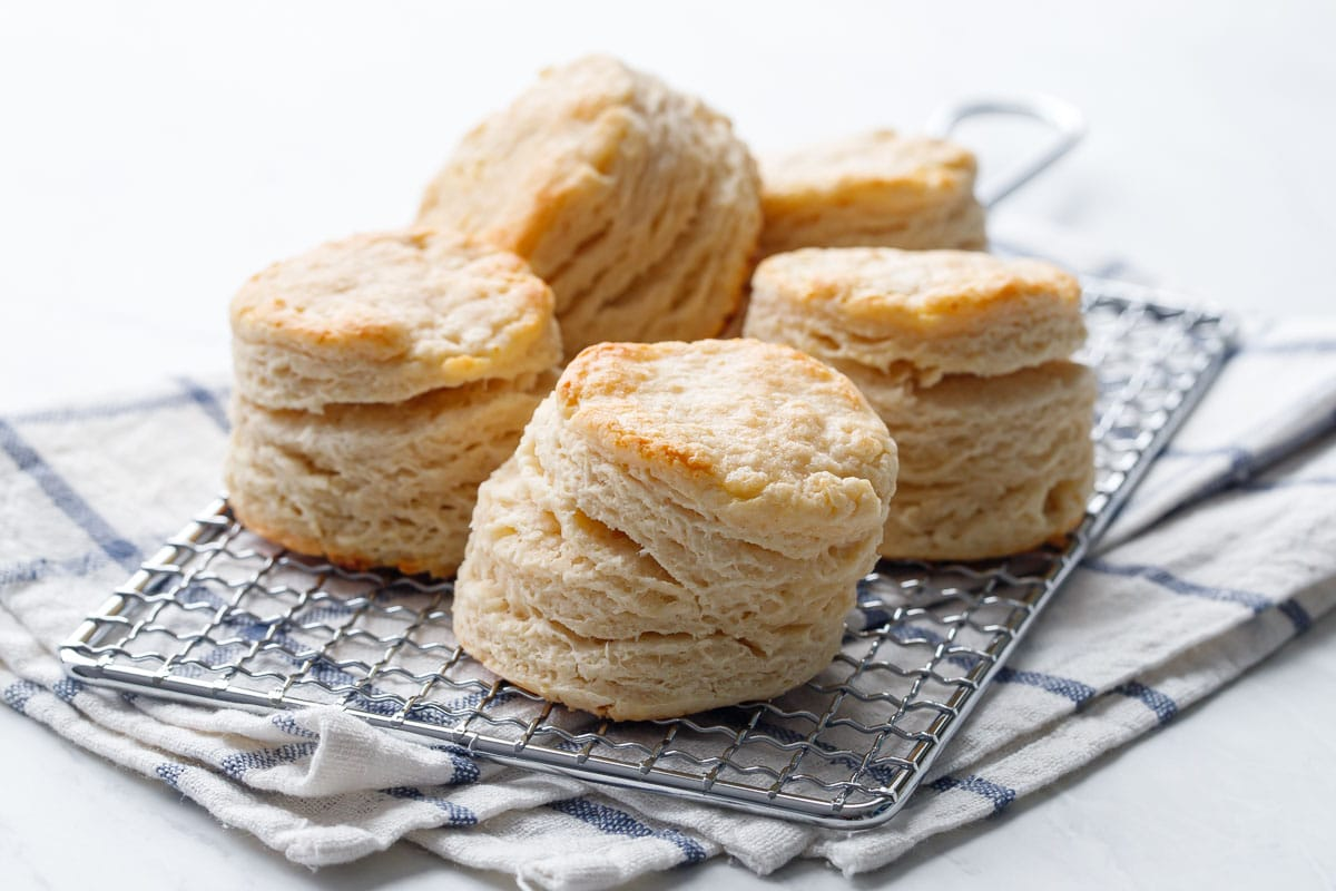 Flaky Sourdough Biscuits