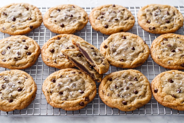Ganache-Stuffed Chocolate Chip Cookies