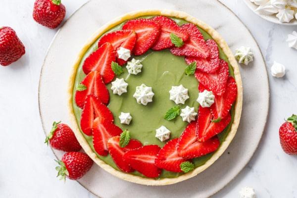 Matcha Strawberry Tart