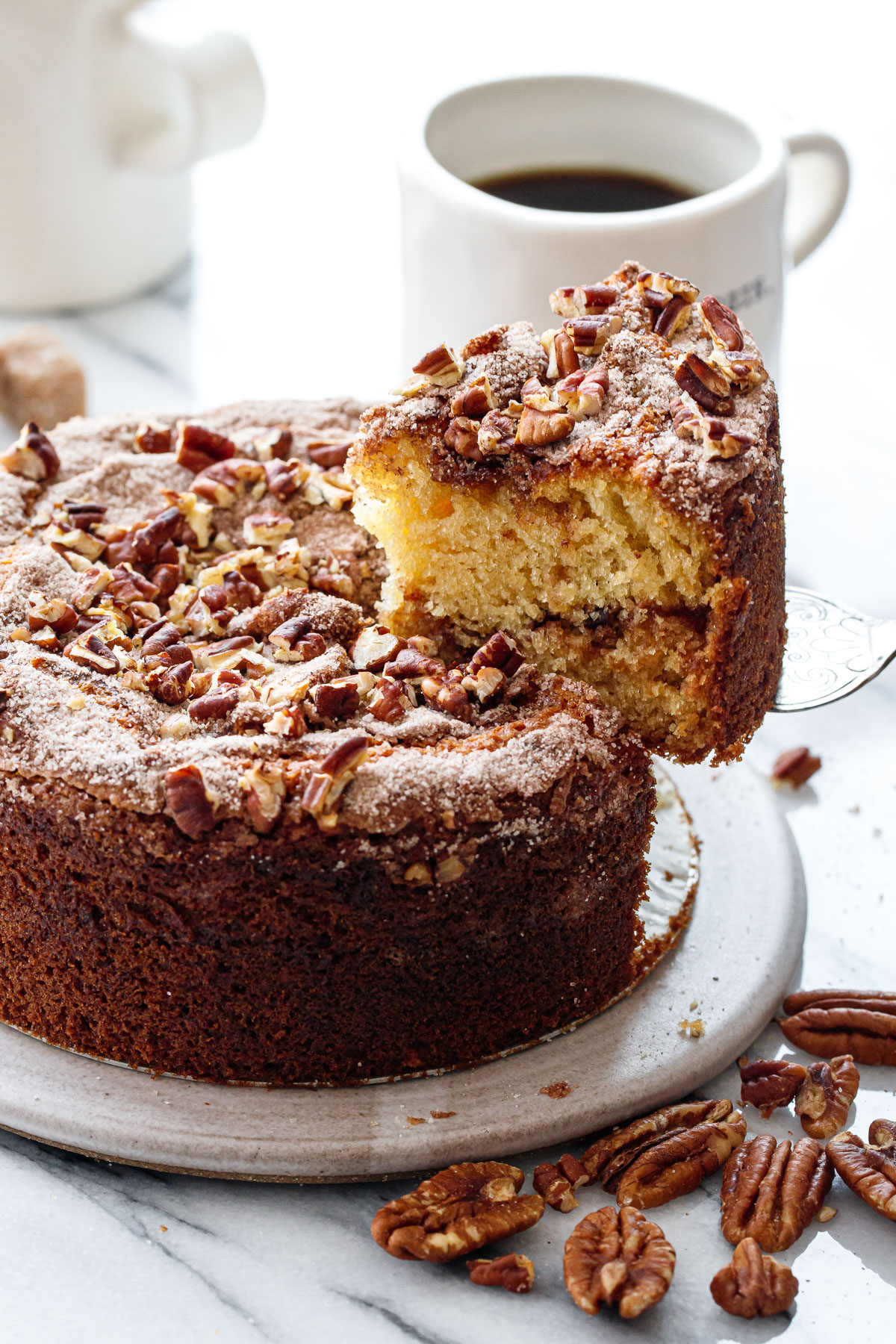 Greek Yogurt Coffee Cake Love And Olive Oil