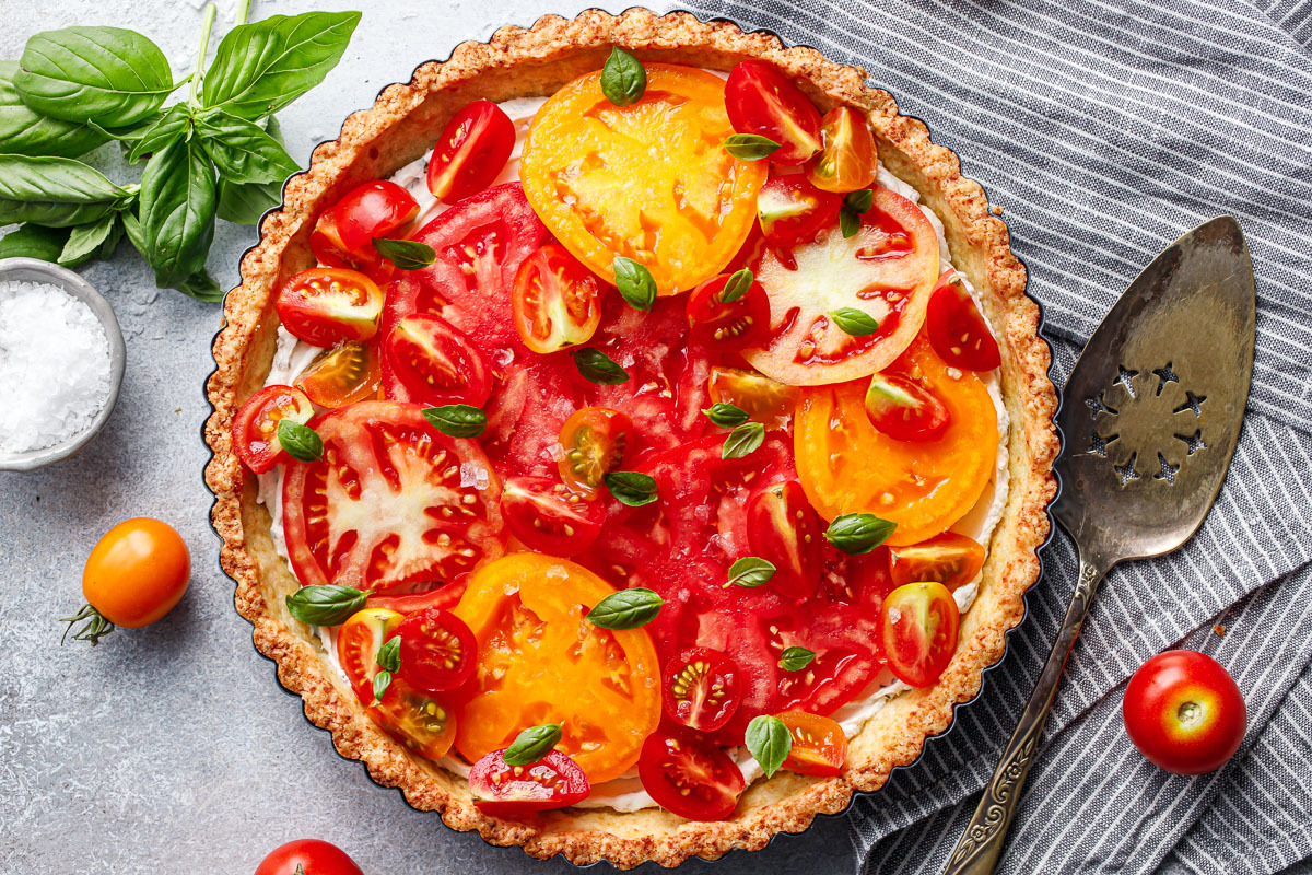 Goat Cheese & Heirloom Tomato Tart
