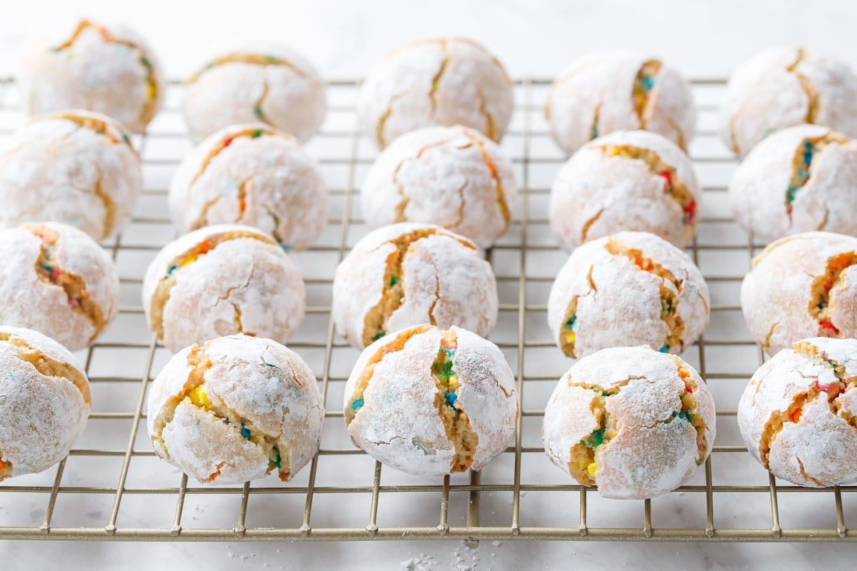 Confetti Amaretti Cookies