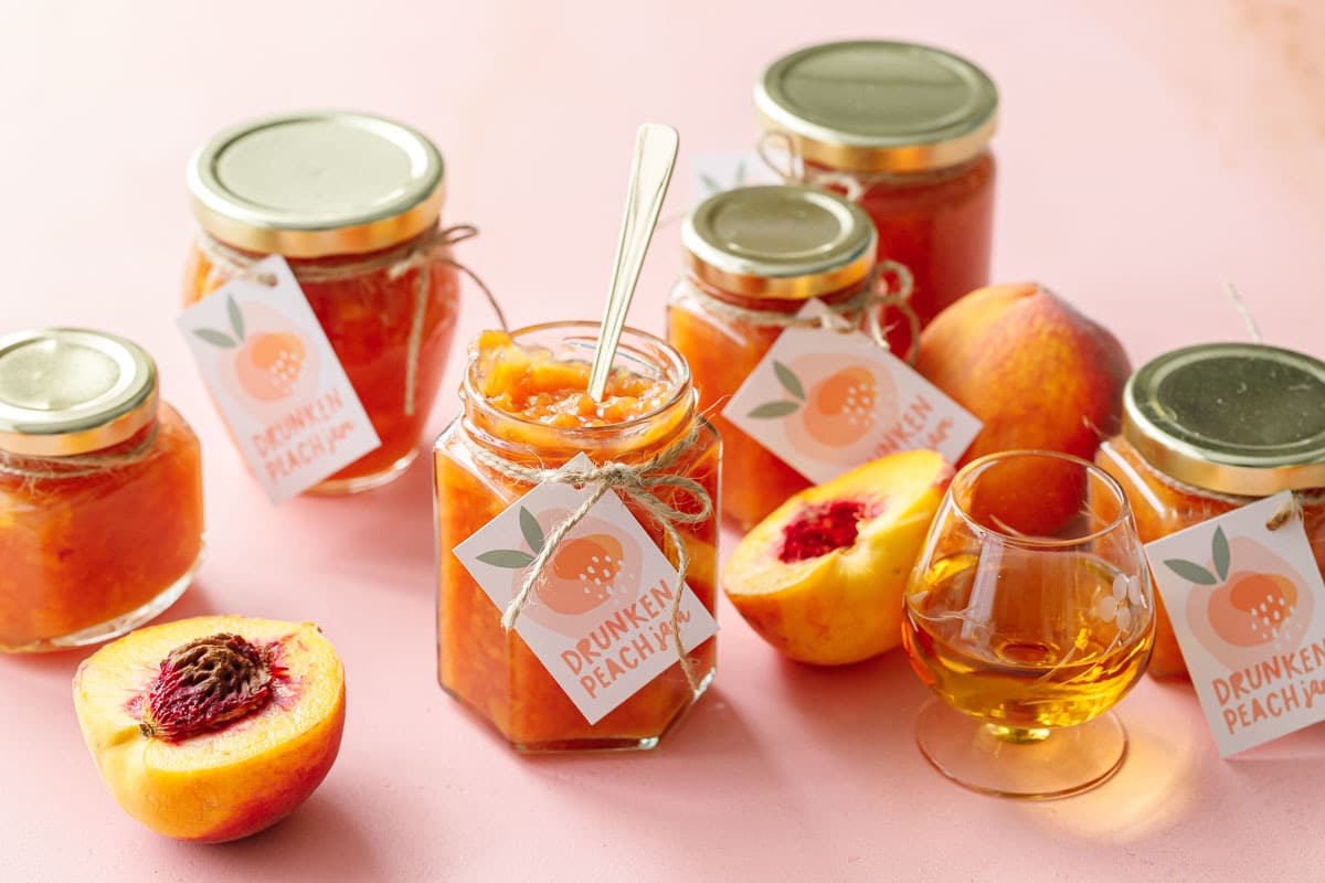 Drunken Peach Jam
