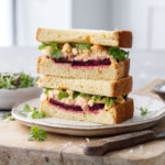 Egg Salad Sandwiches with Roasted Beet