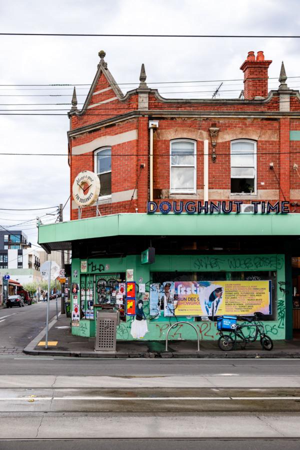Doughnut Time building in Melbourne, Australia