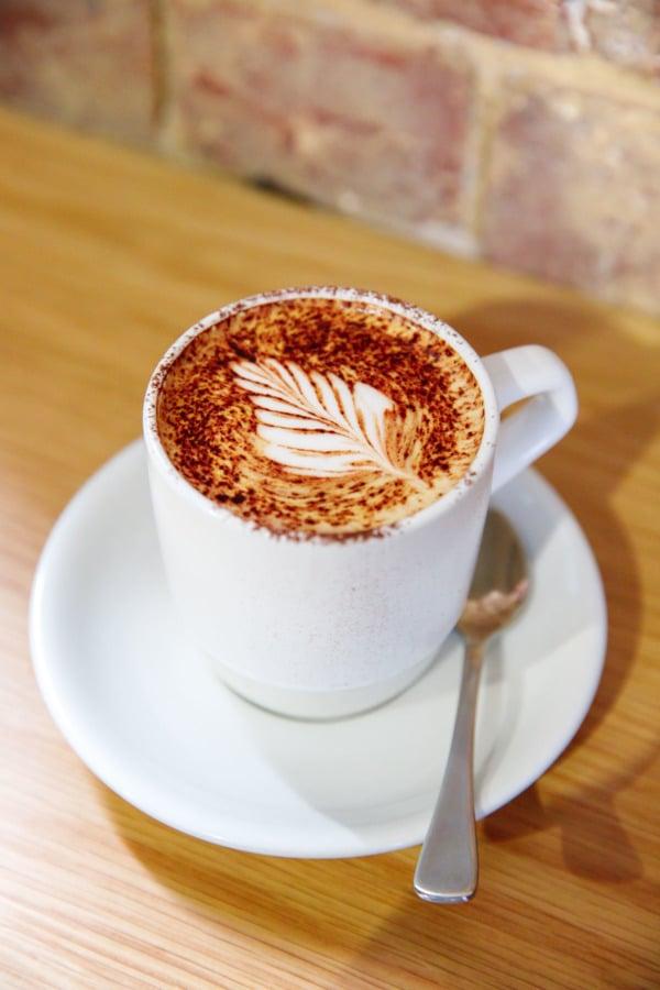 Pretty latte art, Melbourne, Australia