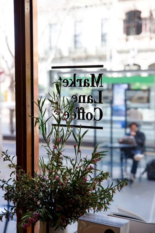 Looking through the window, Market Lane Coffee, Melbourne, Australia