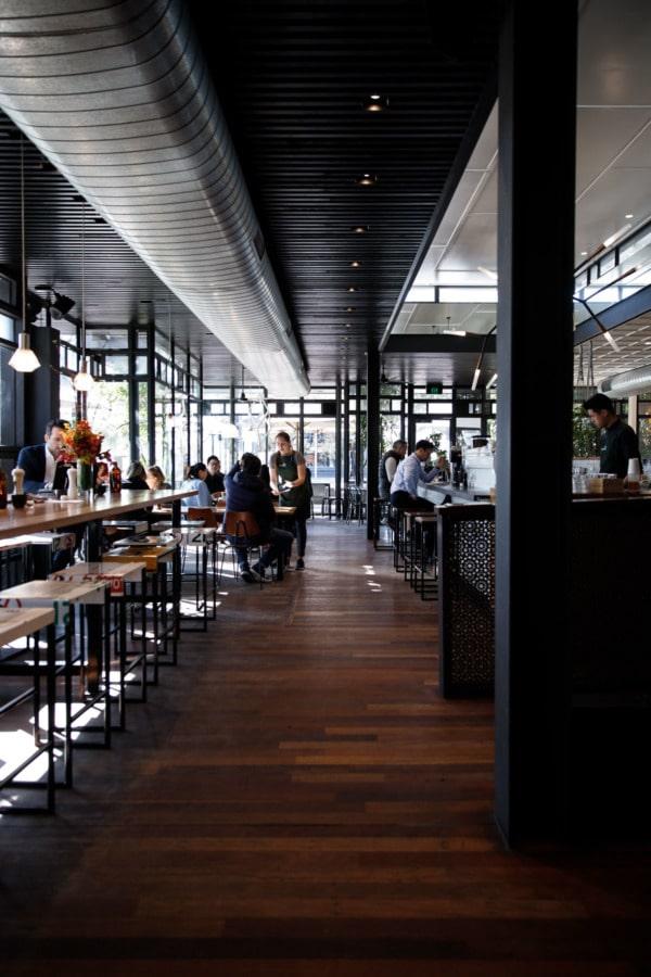 Interior of Top Paddock restaurant in Melbourne, Australia