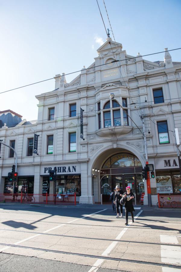 Exterior of Prahran Market, Melbourne, Australia
