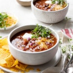Vegetarian Pumpkin & Three-Bean Chili