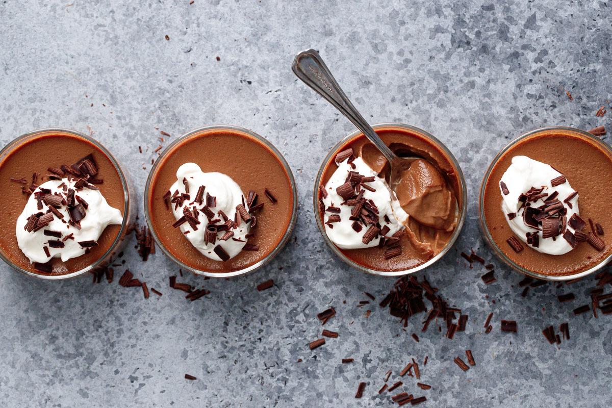 Chocolate Pumpkin Pots de Creme