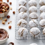 Stuffed Hazelnut Amaretti Cookies