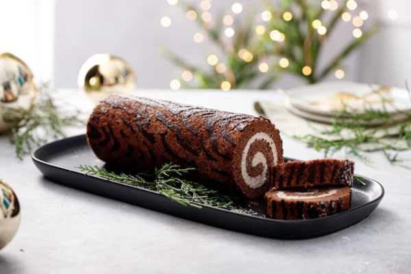 Chocolate Chestnut Christmas Cake Roll