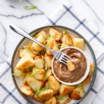 Crispy Roasted Potatoes with Black Garlic Aioli