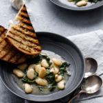 Brothy Beans & Greens with Grilled Bread