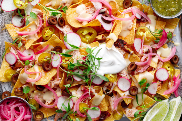 Loaded Smoked Chicken Nachos