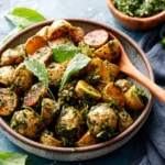 Roasted Potatoes with Arugula Chimichurri