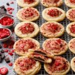 Chocolate-Stuffed Strawberry Sugar Cookies