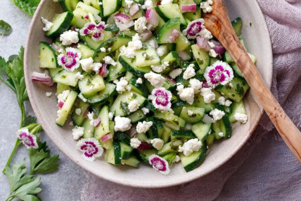 Cucumber & Feta Salad with Herb Vinaigrette