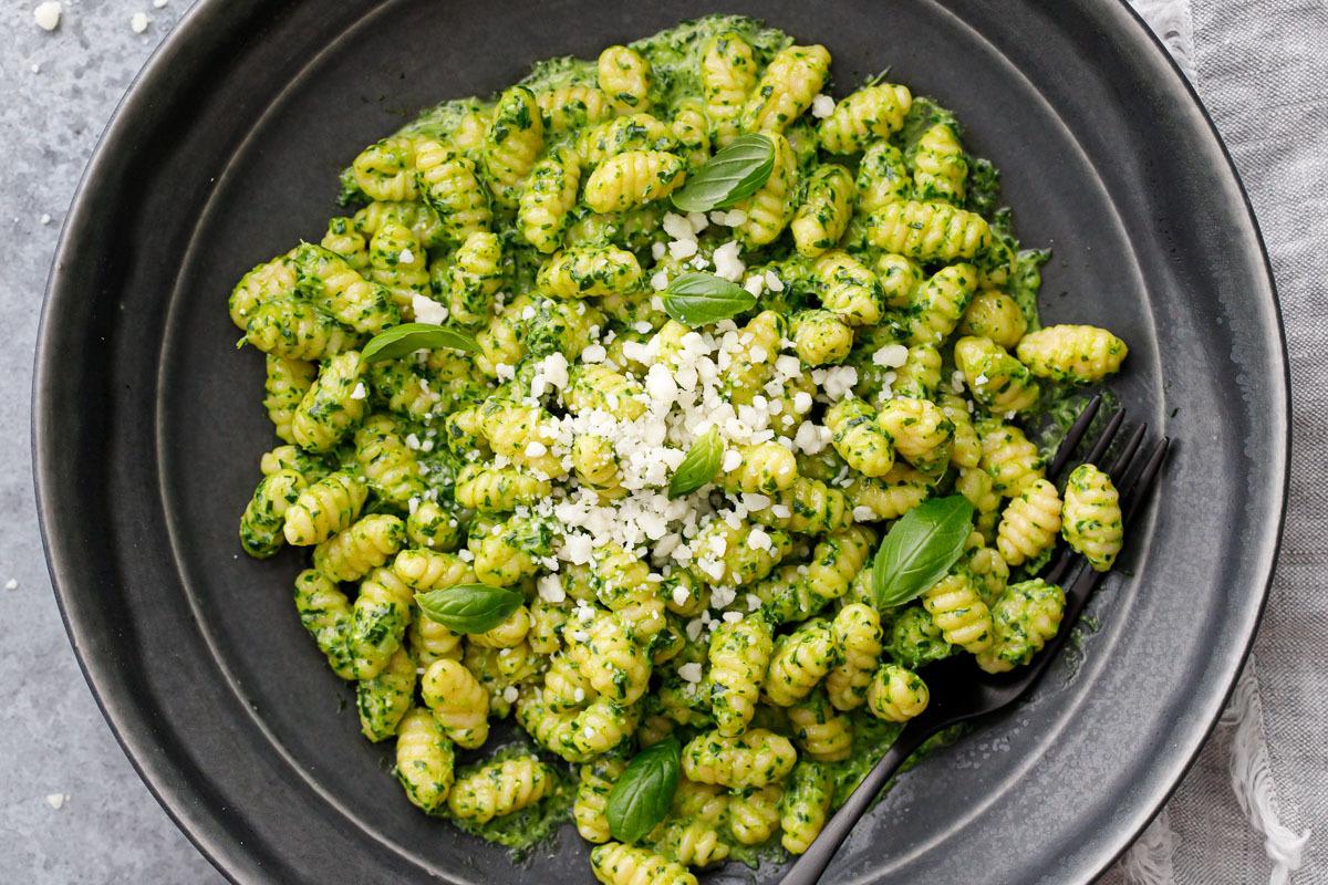 Sourdough Gnocchetti Sardi with Basil Pesto Sauce